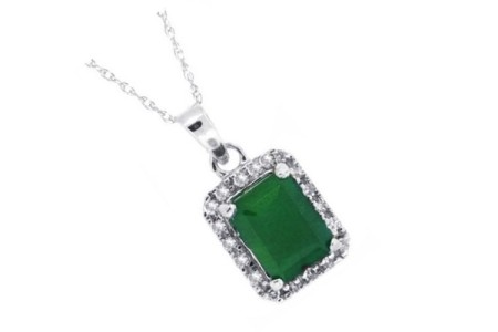 Genuine Emerald Pendants & Necklaces