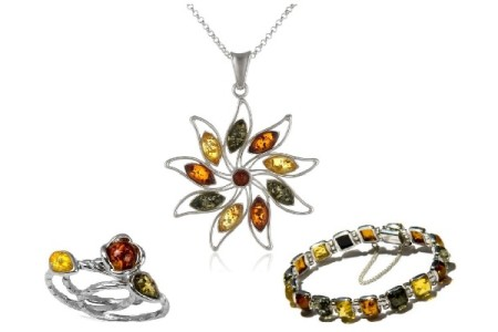 Gorgeous Multicolor Amber Jewelry