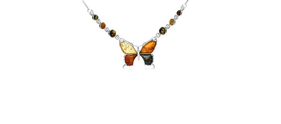 Multi Color Amber Pendants and Necklaces