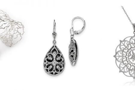 Beautiful Filigree Silver Jewelry