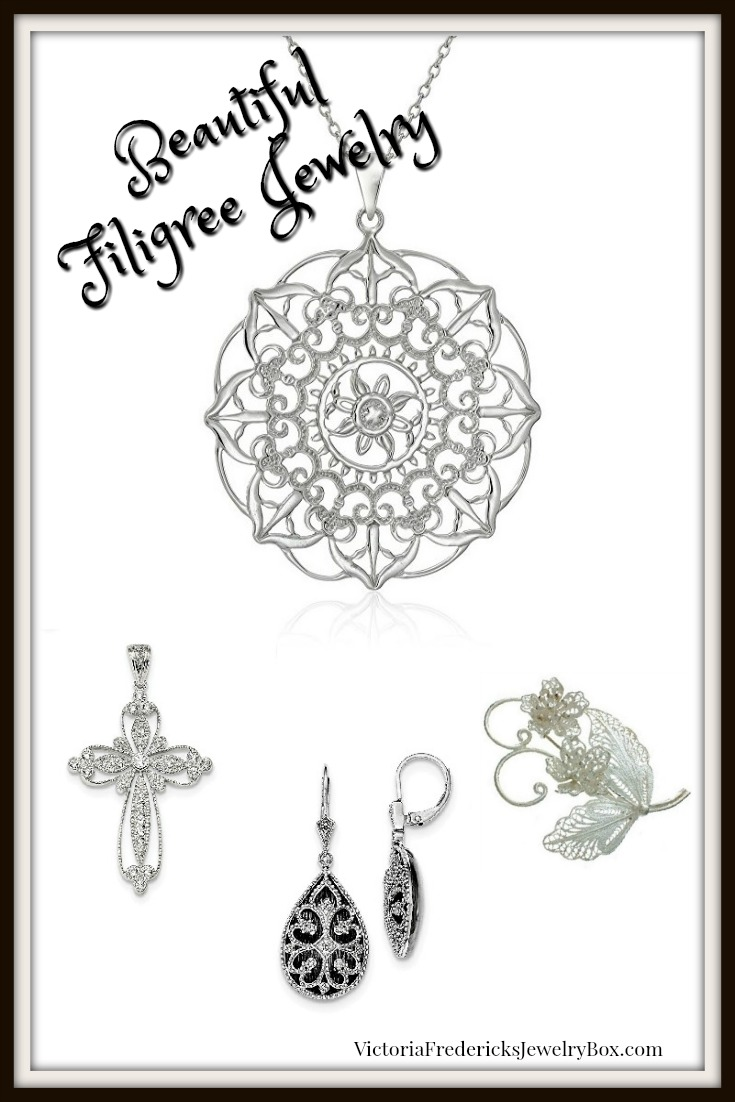 Filigree Jewelry: Necklaces, Pendants, Earrings, Bracelets, Brooches