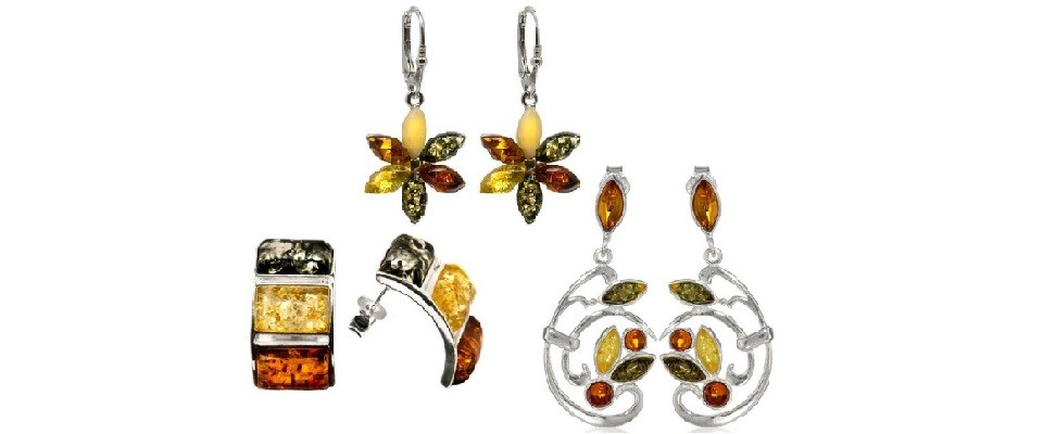 Multicolor Amber Earrings