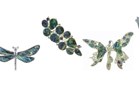 Abalone Shell Brooches and Pin