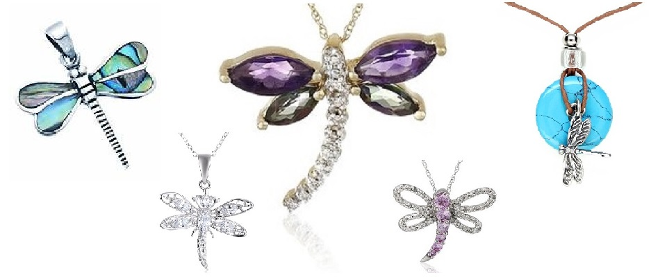 Beautiful Dragonfly Necklaces & Pendants