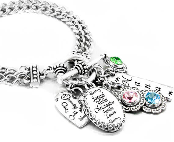 Personalized Mother's Bracelets with birthstones