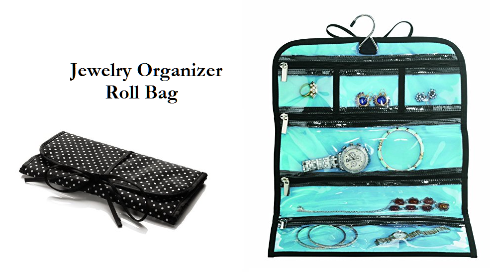 Travel Jewelry Organizer Roll Bag